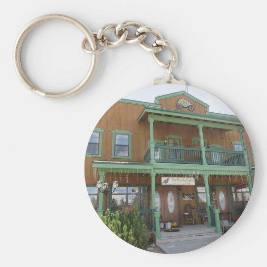 Western Storefront Basic Round Button Key Ring