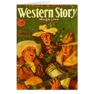 Western Story Magazine 1931 Christmas Card