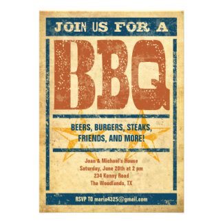 Western Style BBQ Invitations