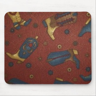 Western Style Boots Mousepad