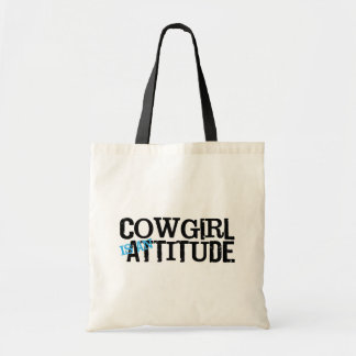 Western Style Cowgirl Attitude Tote Bag