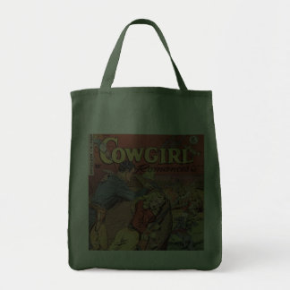 Western Style Cowgirl Romance Tote Bag