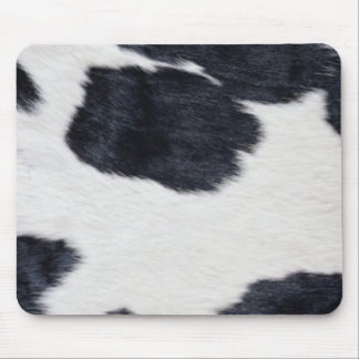 Western Style Cowhide Black/White Print Mouse Mat