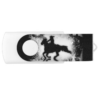 Western-style Galloping Rodeo  Horse and Rider USB Flash Drive