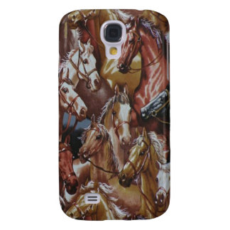 Western Style Horses 3G/3GS Galaxy S4 Case
