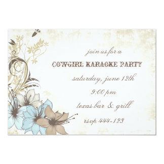 Western style party invitation