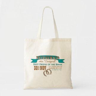 Western Style Wedding Tote (BRIDESMAID) Budget Tote Bag