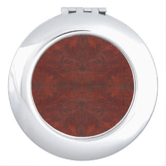 Western-styled Tooled-Leather-look Design Vanity Mirrors