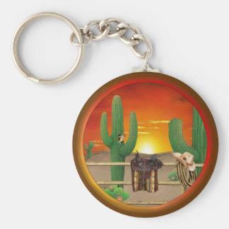 Western Sunrise Key Ring