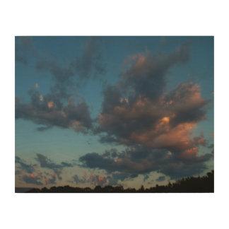 Western Sunrise Sky and Clouds Summer 2016 Wood Wall Art