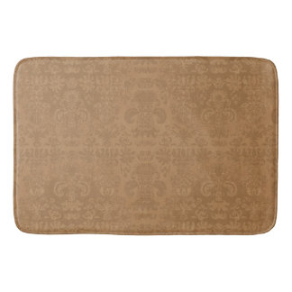 Western-Tan-Damask-Bath-Bed-RUGS-S-M-L Bath Mat