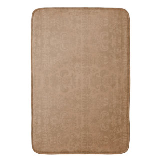 Western-Tan-Damask--II-Bath-Bed-RUGS-S-M-L Bath Mat