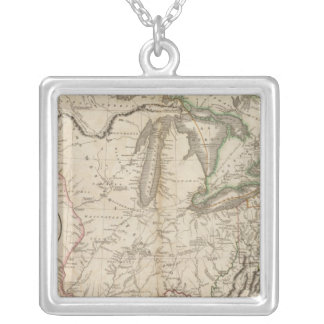 Western Terr, Kentucky, Pennsylvania, etc Silver Plated Necklace