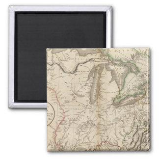 Western Terr, Kentucky, Pennsylvania, etc Square Magnet