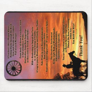 Western Theme Teacher Appreciation Poem Mousepad