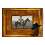 Western Theme with Boot & Hat Photo Template