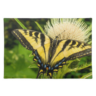 Western Tiger Swallowtail on a thistle Placemat