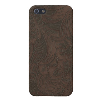 Western Tooled Leather-look Texture 3 iPhone Case iPhone 5/5S Cover