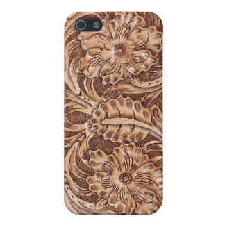 Western Tooled Leather-look Texture 3 iPhone Case iPhone 5 Case
