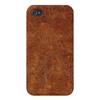 Western Tooled Leather-look Texture iPhone Case iPhone 4/4S Cases
