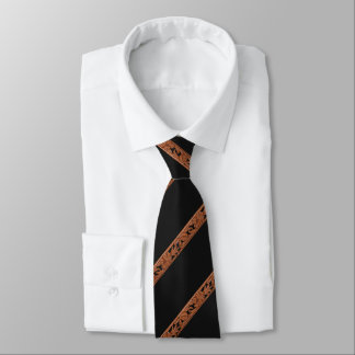 Western Tooled Leather Print Tie