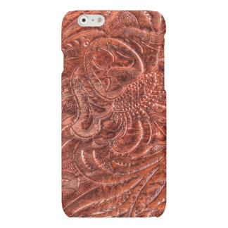 Western Tooled Saddle Leather-look Texture 4 iPhone 6 Plus Case