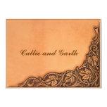 Western Tooled Wedding Invitation 13 Cm X 18 Cm Invitation Card