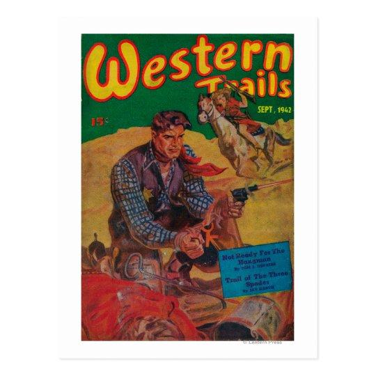 Western Trails Magazine Cover 2 Postcard