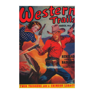 Western Trails Magazine Cover Canvas Print