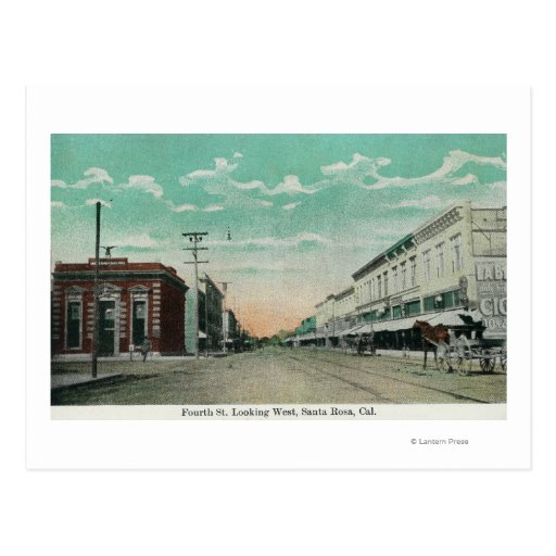 Western View from Fourth StreetSanta Rosa, CA Postcards