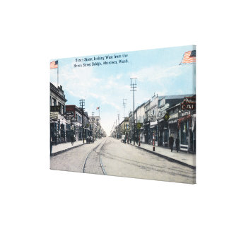 Western View of Heron Street from Bridge Canvas Print