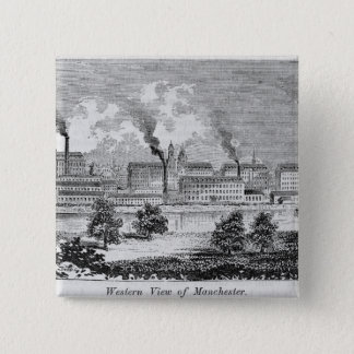 Western View of Manchester 15 Cm Square Badge