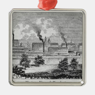 Western View of Manchester Christmas Ornament