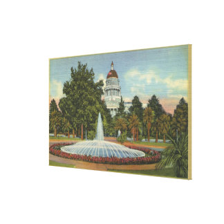 Western View of the State Capitol Canvas Print
