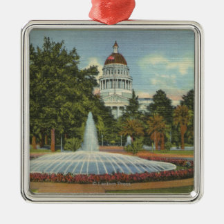 Western View of the State Capitol Christmas Ornament