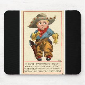 Western Vintage 1912 Lil' Cowboy Mousepad