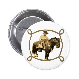 Western Vintage Cowboy On Horse Buttons
