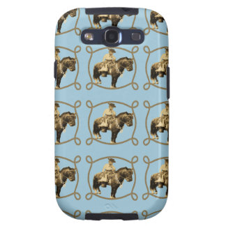 Western Vintage Cowboy On Horse Galaxy SIII Covers