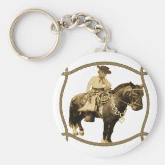 Western Vintage Cowboy On Horse Keychains