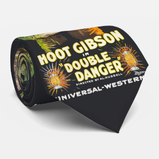 Western Vintage Movie Poster Hoot Gibson Tie