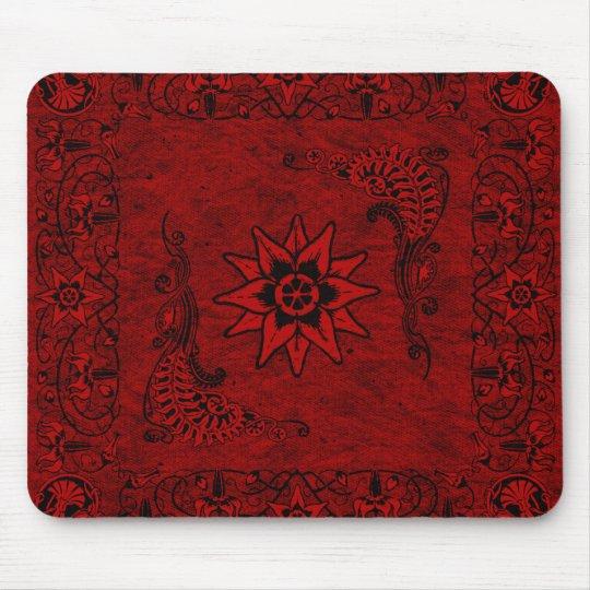 Western Vintage Red Bandanna Mousepad