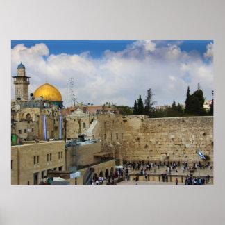 Western Wall in Jerusalem (Wall of Sorrow) Poster