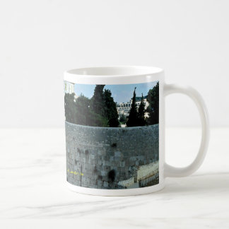Western wall with Dome of the Rock, Jerusalem, Isr Coffee Mug