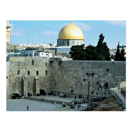 Western wall with Dome of the Rock, Jerusalem, Isr Post Cards