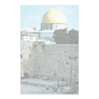 Western wall with Dome of the Rock, Jerusalem, Isr Stationery Paper