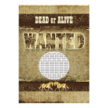 Western wanted dead alive PHOTO insert Personalised Invitation