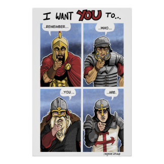 Western Warrior Grid Poster