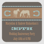 Western Wedding Anniversary Party Favour Stickers