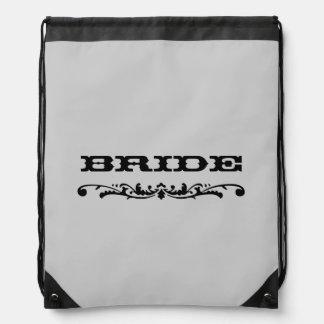 Western Wedding | Bride Drawstring Bag