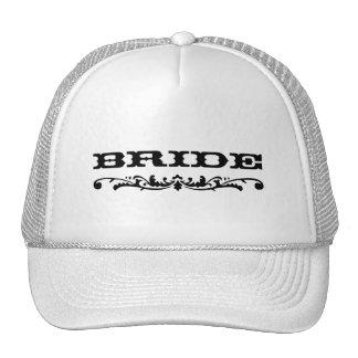Western Wedding Bride Trucker Hats